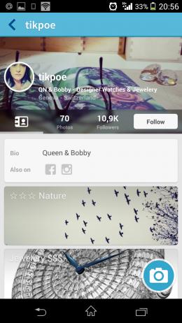 Профиль - FxCamera для Android