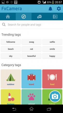 Поиск - FxCamera для Android