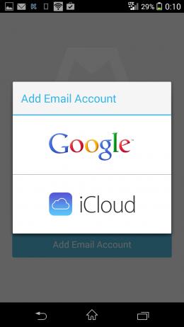 Аккаунты - Mailbox для Android