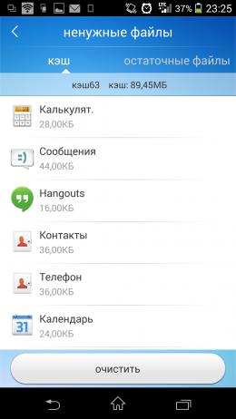 Ненужные файлы - Toolwiz Cleaner для Android
