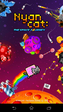 Меню - Nyan Cat: The Space Journey  для Android