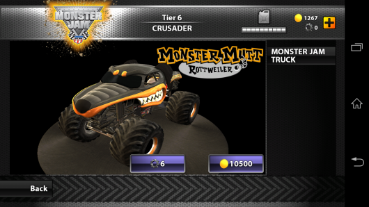 Выбор джипа - MonsterJam для Android
