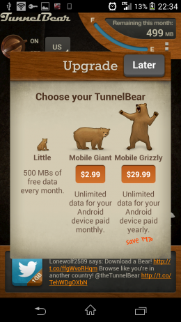 Прайс - TunnelBear VPN для Android