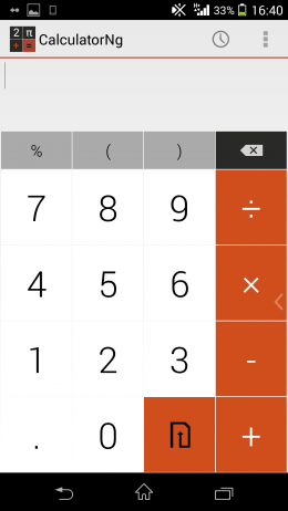 Интерфейс - CalculatorNg для Android