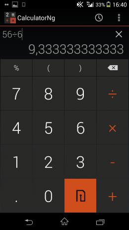 Темная тема - CalculatorNg для Android