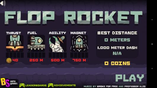Меню - Flop Rocket для Android