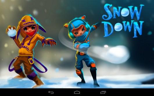 Бросаемся снежками в игре Snowdown для Android