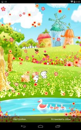 Красочные обои Spring Story для Android