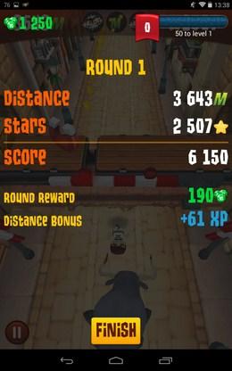 Итоги уровня - Stampede Run для Android