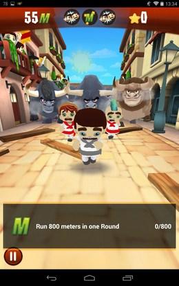 Начало побега от быков - Stampede Run для Android
