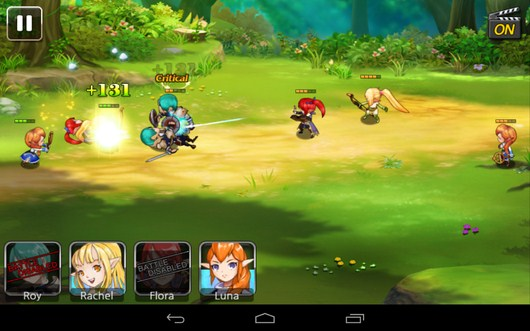 Бой с игроком в режиме онлайн - Summon Masters для Android