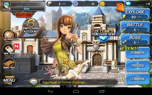 Меню игры и помощница - Summon Masters для Android