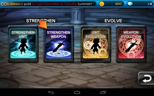 Прокачка навыков и персонажей - Summon Masters для Android