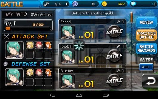 Выбор ирока для сражения - Summon Masters для Android