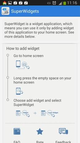 Помощь по настройке видежтов SuperWidgets для Android