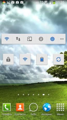 Пример виджетов на рабочем столе - SuperWidgets для Android