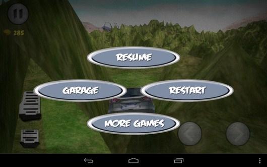 Меню игры - SuvDrive3D для Android