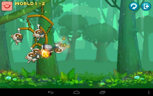 Атака противника - Swing Shot для Android