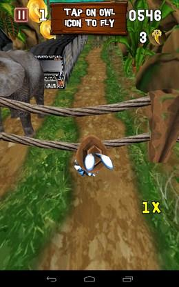 Проскальзываем преграду - Temple Bunny Run для Android