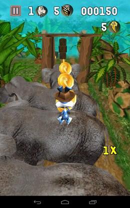 Сбор монет на слонах - Temple Bunny Run для Android