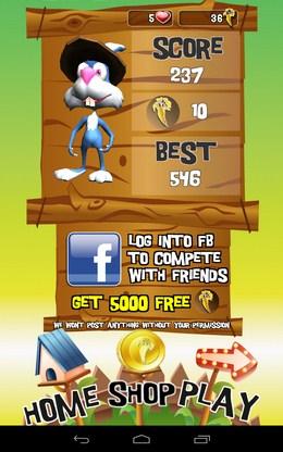 Итоги уровня - Temple Bunny Run для Android