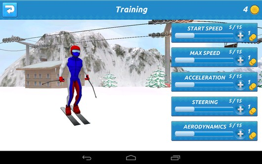Прокачка спортсмена - Top Ski Racing 2014 для Android