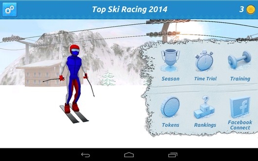Выбор режима игры - Top Ski Racing 2014 для Android