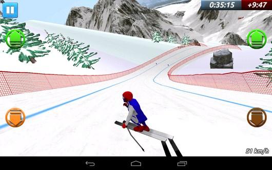 Спортсмена занесло - Top Ski Racing 2014 для Android