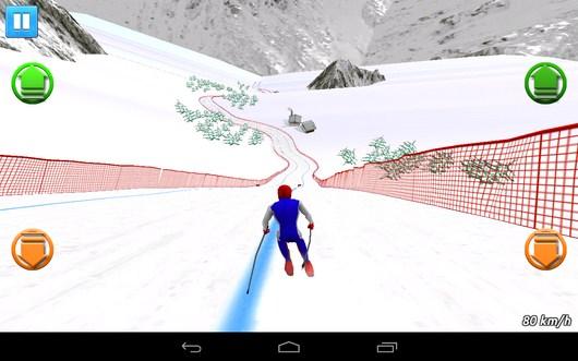 Выравниваем положение - Top Ski Racing 2014 для Android