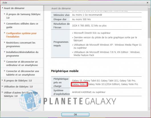 Galaxy Note 4 в списке совместимых устройств SlideSync