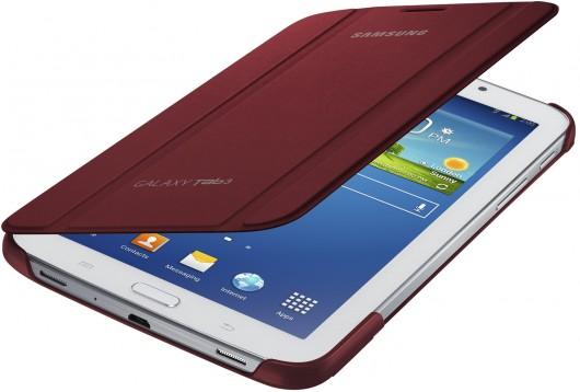 Samsung Galaxy Tab 3 в бордовом чехле