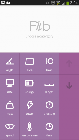 Меню - Flib для Android