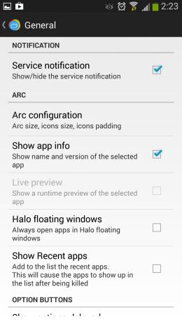 Настройки - Loopr для Android