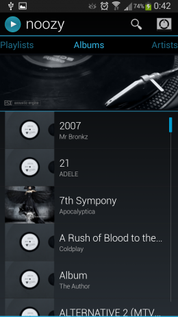 Альбомы - Noozy для Android