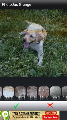 Grunge фильтры - PhotoJus Grunge для Androird