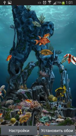 Рыбы - Underwater World 3D для Android