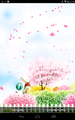 Полет листьев Bird tweet fragrant flowers для Android