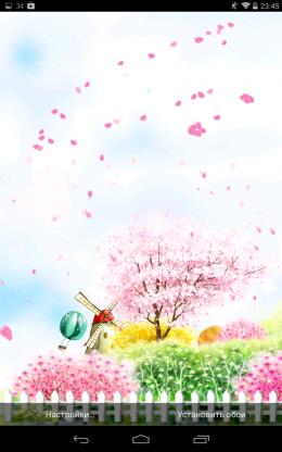 Полет листьев Bird tweet fragrant flowers для Android