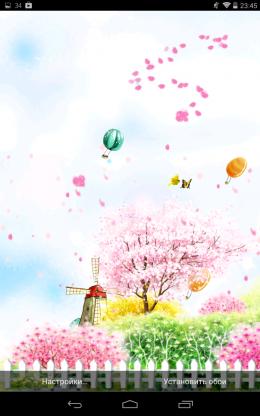 Предварительный просмотр - Bird tweet fragrant flowers для Android