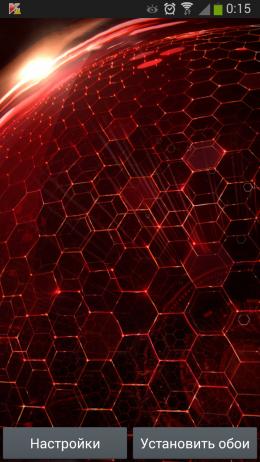 Красный фон - Droid DNA для Android
