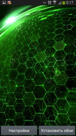 Зеленый фон - Droid DNA для Android