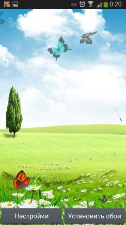 Поле - Spring live wallpaper для Androird