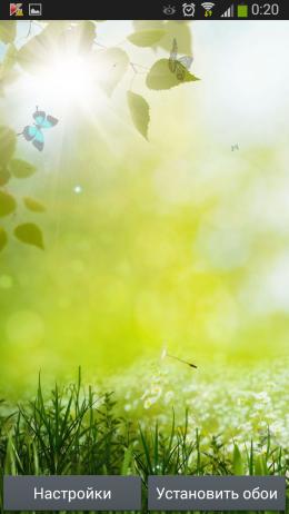 Трава - Spring live wallpaper для Androird