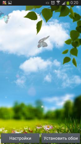 Бабочки - Spring live wallpaper для Androird