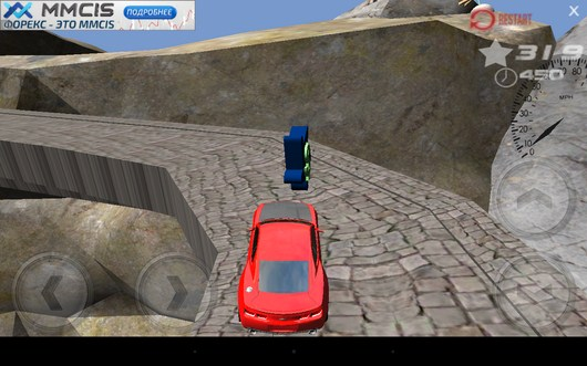 Чекпоинт - 3d Hill Climb Muscle Cars 2014 для Android
