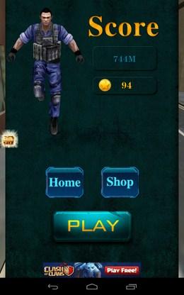 Итоги побега - 3D City Zombie RUN для Android