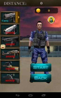 Меню - 3D City Zombie RUN для Android