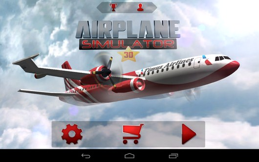 Управление самолетом в AirPlane Simulation 3D для Android
