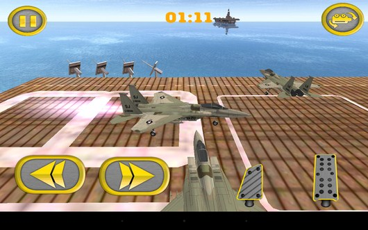 Камера сбоку - Aircraft Carrier Parking для Android