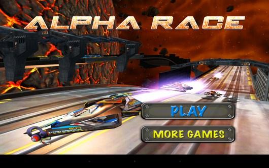Гонки на космолетах Alpha Race для Android